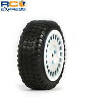 Losi Tires Mounted White (4): Micro Rally LOSB1593