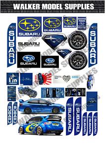 1:24 scale Pre-cut Garage Subaru sign stickers/ model / diorama