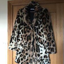 Leopard Print Faux Fur Jacket Size 8