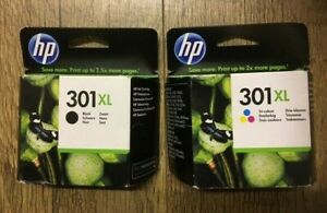 Genuine HP 301XL Black & Tri-Colour 08/2021 & 09/2021 Sealed Boxes