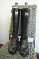 VINTAGE 80's BELSTAFF LEATHER MOTORCYCLE BOOTS SIZE UK 6
