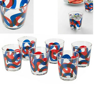 Drinking Tumbler Glasses Christmas Gift Short Pattern Water Glassware Cups Ikea