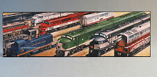 LIONEL DIESEL LOCOMOTIVES IRON WALL PLAQUE SIGN train metal picture 9-42062 NEW
