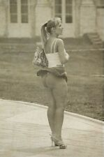 Risqe Pinup Girl Sexy Woman vintage Rare Antique wind and skirt Photo 4x6 A