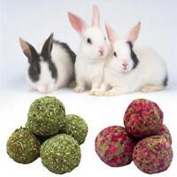 Pet Zähne Schleifen Ball Natürliche Snack Gras Ball Meerschweinchen Kaninchen *