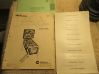 original W/ SCORING STRIRP FLASH WILLIAMS pinball MACHINE manual