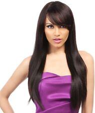 Long virgin 100% remy all human hair Maxine wig, softest straight yaki, 26 in.