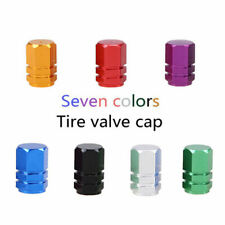 4x Green Aluminium Car Wheel Tyre Valve Stems Air Dust Cover Screw Cap NEW