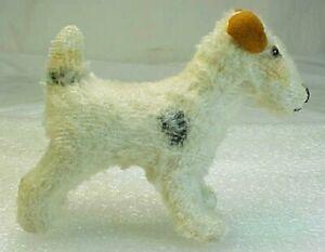 """Vintage Steiff  Mohair Dog Stuffed Animal - Fox Terrier - 3.5"""" Tall"""