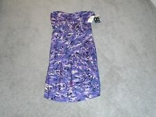 Guess Plum Multi Strapless Dress Size Medium New With Tags