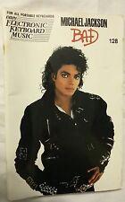 electric keyboard Music Book #128 Michael Jackson Bad vintage 1975 warner bros