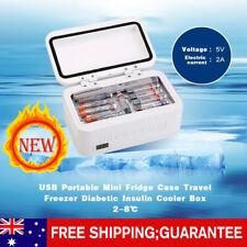 2-8℃ USB Fridge Case Portable Travel Freezer Diabetic Insulin Cooler Box 205MM