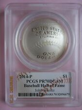 2014-P Baseball Hall of Fame Silver Dollar PROOF JOHN SMOLTZ PCGS PR70DCAM