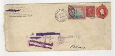 U.S.A. 2 timbres & 1 entier sur lettre 1928 tampon U.S.A Colorado Springs/FDCag3