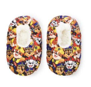 Paw Patrol Toddler Boys Size 4 1/2 - 7 1/2 Fuzzy Babba Slipper Socks New