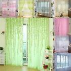 Multi Pattern Sheer Voile Room Divider Window Curtain Door Panel Drapes Scarf