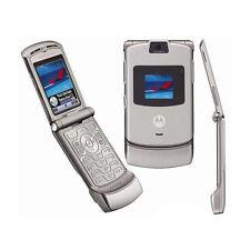 Motorola RAZR V3 in Silber Klapphandy Einfach Ohne Simlock Handy Cellular Phone
