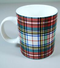 Tommy Hilfiger Coffee Mug - Stewart Plaid - White/Green/Red Christmas