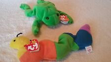TY Beanie Babies - both included are - INCH the Inchworm and LEGS the green frog