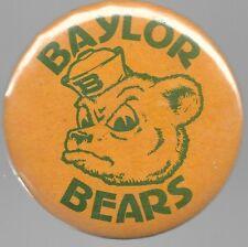 BAYLOR BEARS COLLEGE SPORTS FOOTBALL BASKETBALL SPIRIT PIN BUTTON