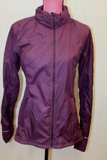 Lululemon Purple Zip In And Out Hood In Collar Jacket Windbreaker Coat 10 M L