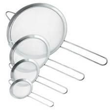 """U.S. Kitchen Supply Fine Mesh Stainless Steel Strainer Set, 4 Sizes 3, 4, 5.5 8"""""""