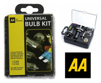 AA Car Essentials Compact Travel Universal Spare Bulb & Fuse Kit H1 H7 H4