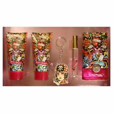 ED HARDY Hearts And Daggers For Women 5 pcs Gift Set 3.4 OZ EDP Spray New In Box