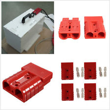 4 Pcs/Set Red Autos Trailer Truck Battery Quick Connect Plug 50A 8AWG Connectors