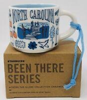 NEW Starbucks Coffee 2oz NORTH CAROLINA Been There Series MIni Mug Ornament