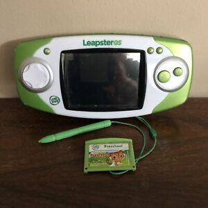 Leapfrog Leapster GS Explorer Green/White Handheld System Stylus Preschool game