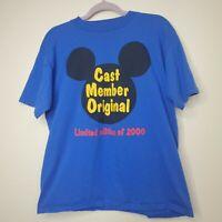 VTG Disney Cast Member Original T Shirt Size XL Limited Edition 2000 Company D
