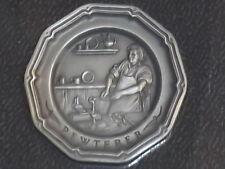 Vintage Franklin Mint Pewterer Colonial Craftsman Pewter Plate Miniature