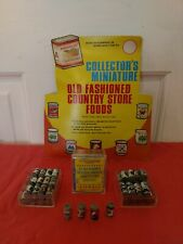 Old Fashioned Country Store Food Cans 24 Pc Set Dollhouse Miniatures Groceries