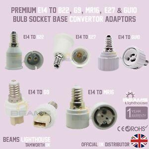 E14 To G9/B22/MR16/GU10/E27 LED/CFL Adapter Socket Base Convertor Holder UK 🇬🇧