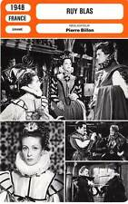 FICHE CINEMA : RUY BLAS - Darrieux,Marais,Herrand,Billon 1948