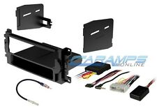 NEW CAR STEREO RADIO CD PLAYER DASH INSTALL KIT W/ INTERFACE WIRE HARNESS & SWC