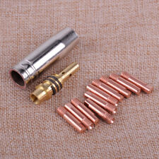 12pcs MB 15AK MIG/MAG Welding Contact Tip 0.8 x 25mm M6 Gas Nozzle Holder Kits