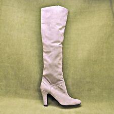 STELLA McCARTNEY Beige Over the Knee Stretch Boots Women's sz  EU 37  NEW