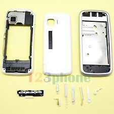 BRAND NEW KEYPAD + BATTERY COVER + CHASSIS FULL HOUSING FOR NOKIA 5230 #WHITE