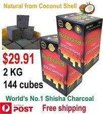 PROMO World's No1 Firebrand shisha hookah incense charcoal coal 2 KG 144  CUBES