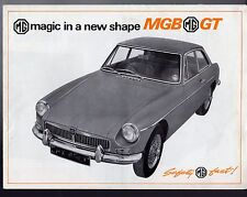MG MGB GT 1965-66 UK Market Launch Foldout Sales Brochure