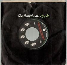 "John & Yoko, Listen, Happy Xmas b/w The Snow is Falling; Green Vinyl 7"" 45"