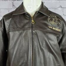 RMEF Lifetime Member Leather Bomber Jacket, Large