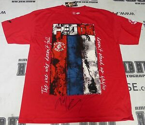 Fedor Emelianenko Signed Walkout Shirt PSA/DNA StrikeForce Pride FC Rizin M-1 XL