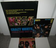 KISS CRAZY NIGHTS TOUR BOOK PROGRAM SONG MAGAZINE ERIC CARR  3 ITEMS