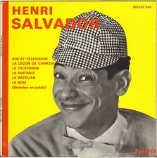 "HENRI SALVADOR ""GIN ET TELEVISION"" 60'S EP PERGOLA 450.072"