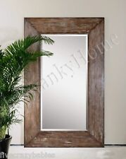 Extra Large Wall Mirror Oversize Rustic Wood HORCHOW Full Length Floor Leaner