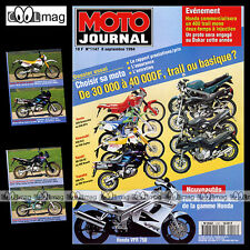 MOTO JOURNAL N°1147 YVES DEMARIA HONDA VFR 750 YAMAHA XJ 600 S DIVERSION XTZ 660