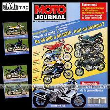 MOTO JOURNAL N°1147 YVES DEMARIA HONDA VFR 750 YAMAHA XJ 600 S DIVERSION XTZ 660
